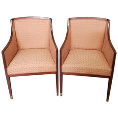 Pair of Early 20th Century Mahogany Bergere Chairs