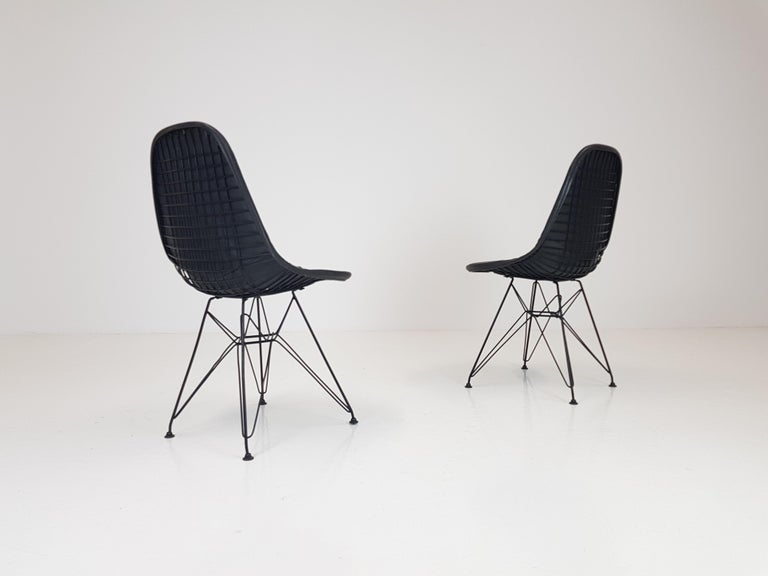 20th Century Pair of Early Charles and Ray Eames DKR Chairs