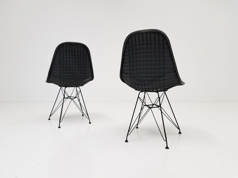 Metal Pair of Early Charles and Ray Eames DKR Chairs