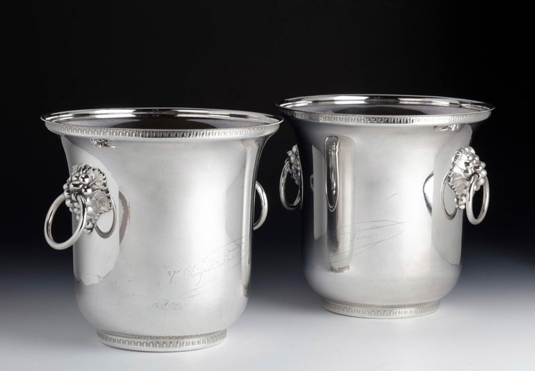 Pair of Early Twentieth Century, French Silver Plated Champagne Coolers In Good Condition For Sale In Peterborough, Northamptonshire