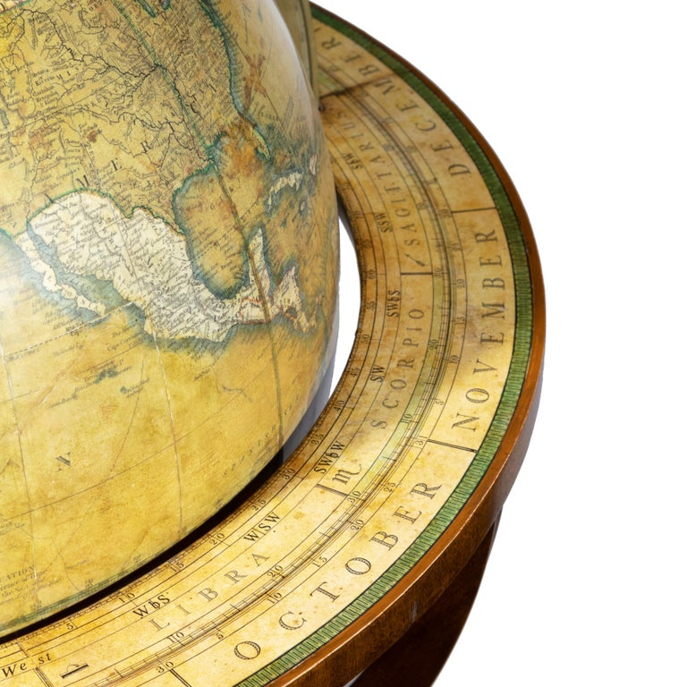 English Pair of Early Victorian Globes by Smith & Son For Sale