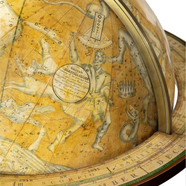 Mid-19th Century Pair of Early Victorian Globes by Smith & Son For Sale