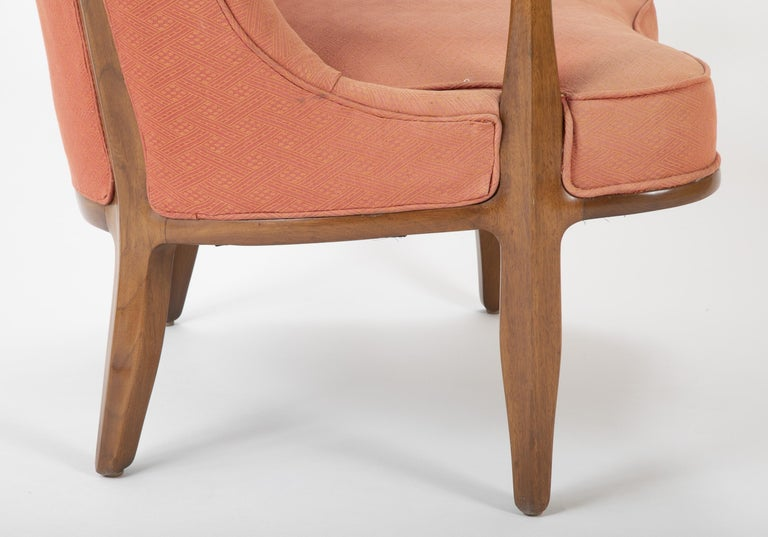 Pair of Edward Wormley Walnut Armchairs for The Janus Collection of Dunbar 1