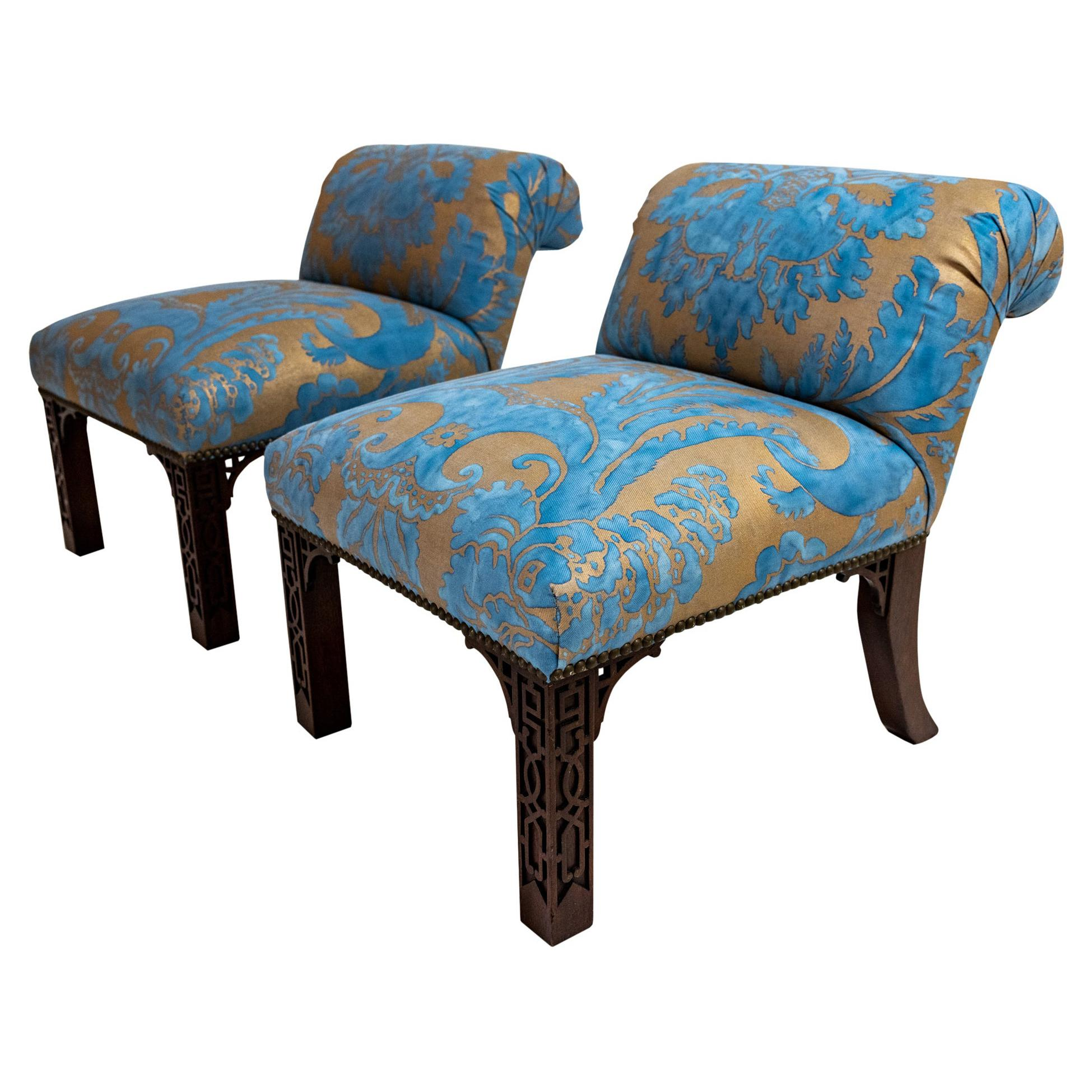 Pair of Elbow Chairs Designed by Billy Haines