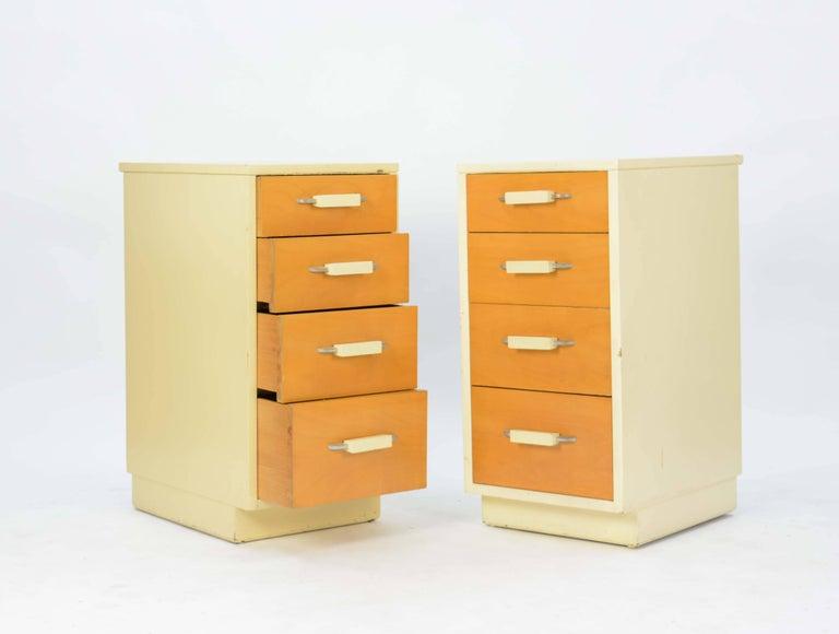 American Pair of Eliel Saarinen and Pipsan Saarinen Swanson's Nightstands for Johnson For Sale