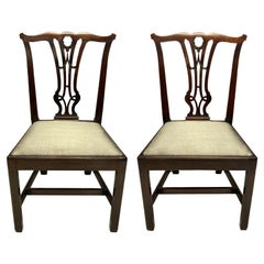 Pair of English Mahogany Side Chairs