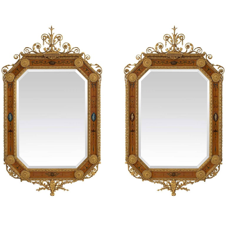 Pair of English Mid-19th Century Adams St. Mirrors