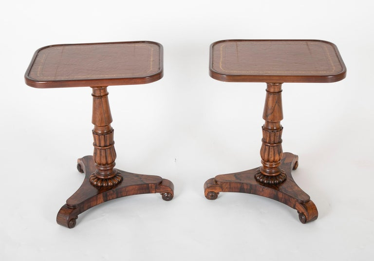William IV Pair of English William iv Rosewood Cocktail Tables, circa 1840 For Sale