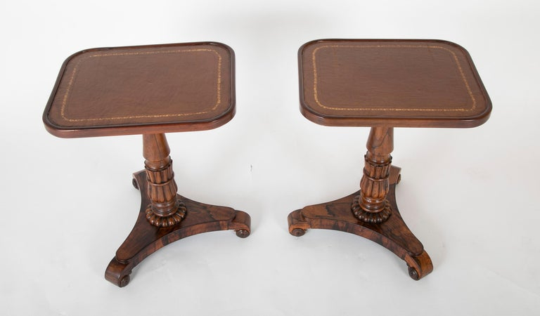 Pair of English William iv Rosewood Cocktail Tables, circa 1840 In Good Condition For Sale In Stamford, CT