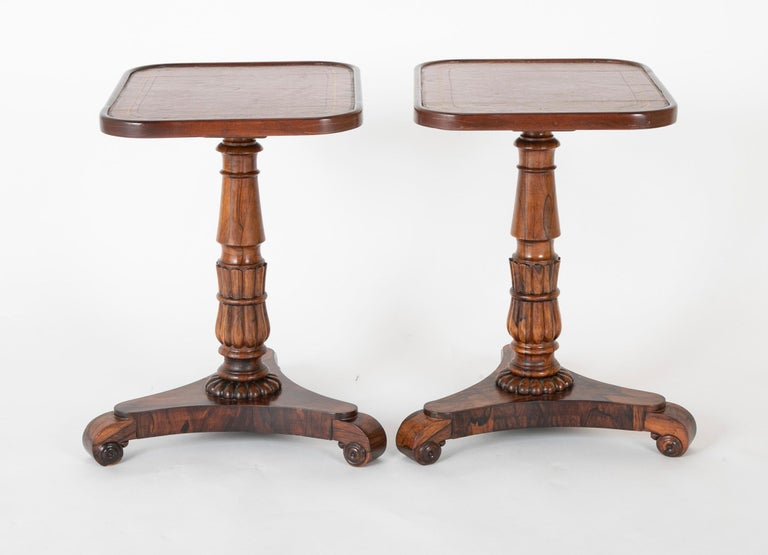 Mid-19th Century Pair of English William iv Rosewood Cocktail Tables, circa 1840 For Sale