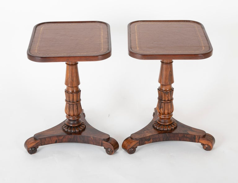 Pair of English William iv Rosewood Cocktail Tables, circa 1840 For Sale 1
