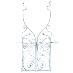 Pair of Extraordinary Early 20th Century Wrought Iron Garden Gates