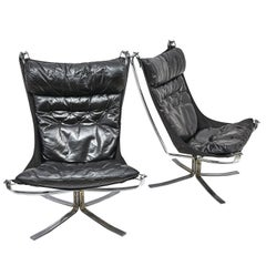 Pair of 'Falcon' Armchairs by Sigurd Ressel, circa 1972