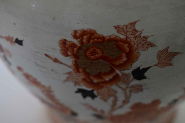 Pair of Famille Rose Porcelain Vases with Covers For Sale 1