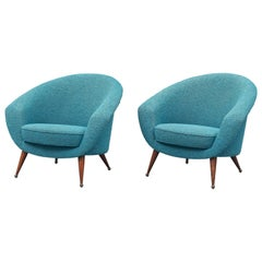 Pair of Folke Jansson Tellus Chairs, Sweden, 1950s