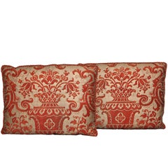 Pair of Fortuny Fabric Cushions in the Carnavalet Pattern
