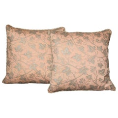 Pair of Fortuny Fabric Cushions in the Edera Pattern, New and in Stock