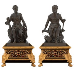 Pair of French 19th Century Louis XIV St. Boulle Présentoirs