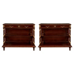 French 19th Century Louis XVI Style Buffets, Attributed to Maison Krieger, Pair
