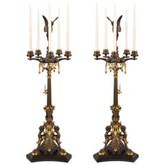 Pair of 19th Century Renaissance Style Candelabras, Attributed to Barbedienne