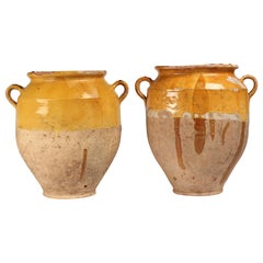 Pair of French 19th Century Confit Pots