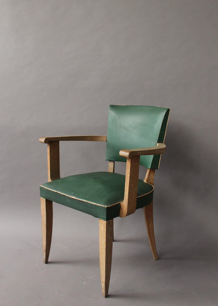 Pair of French Art Deco Armchairs In Fair Condition For Sale In Long Island City, NY