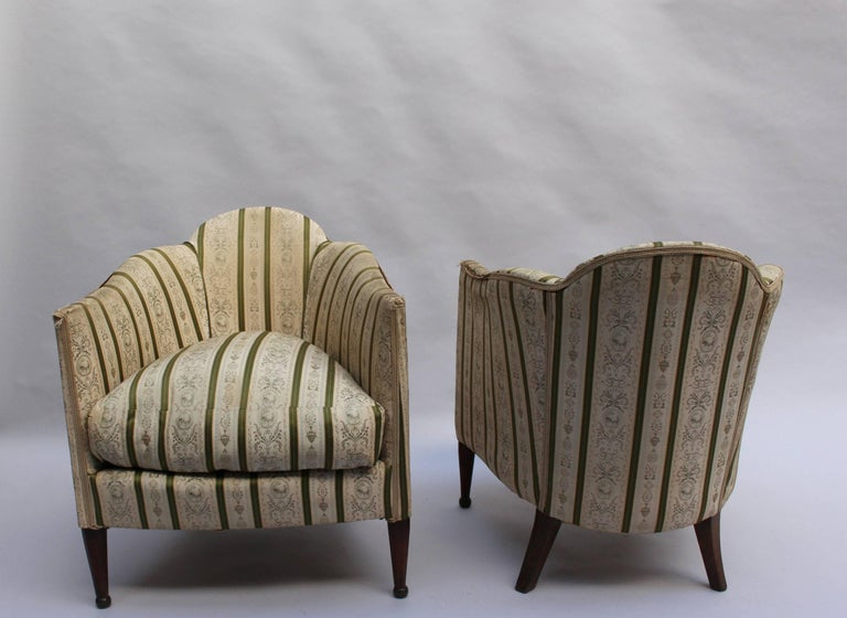 Pair of French Art Deco Armchairs In Good Condition For Sale In Long Island City, NY