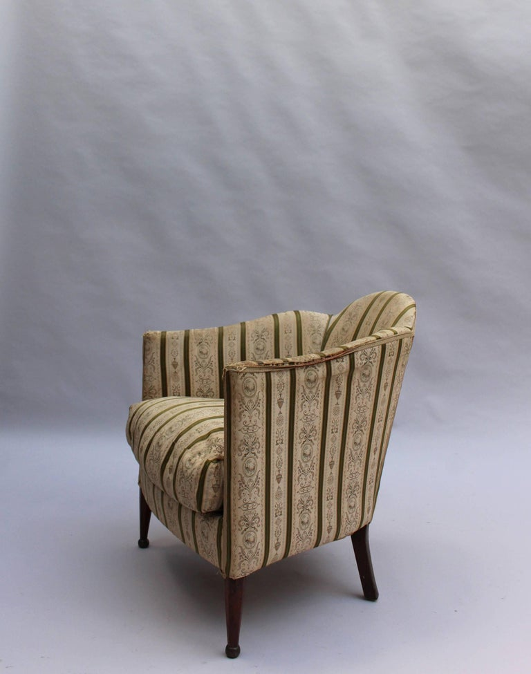 Pair of French Art Deco Armchairs For Sale 1