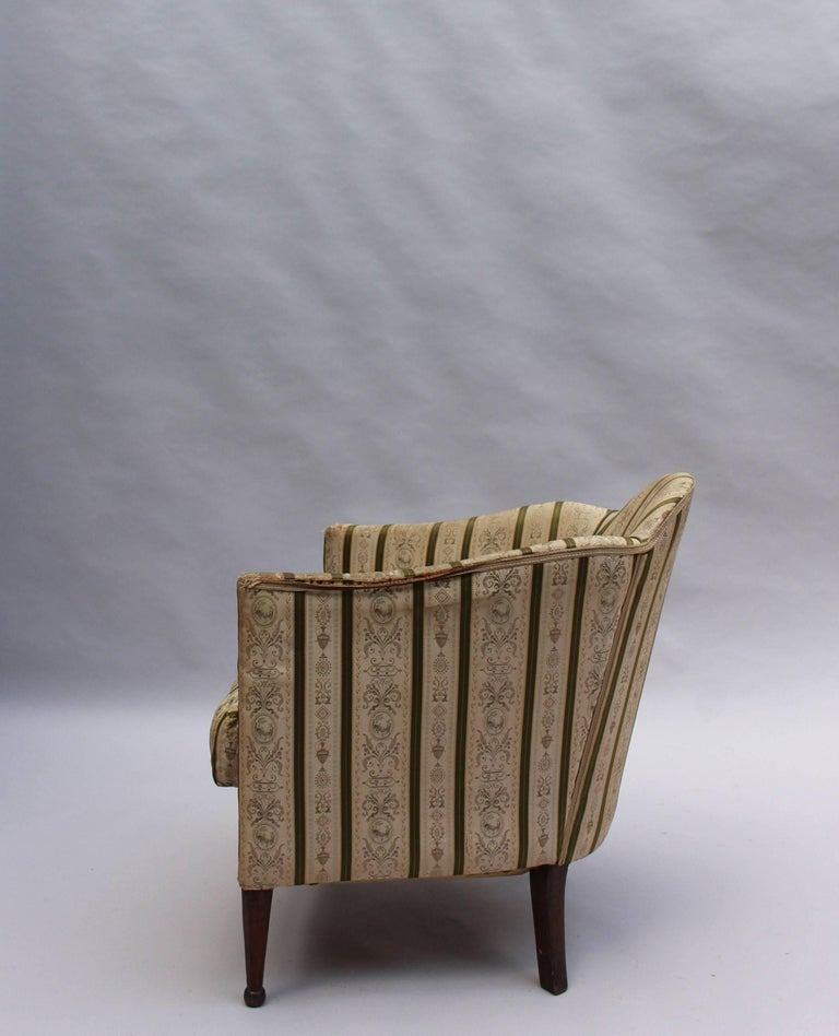 Pair of French Art Deco Armchairs For Sale 2