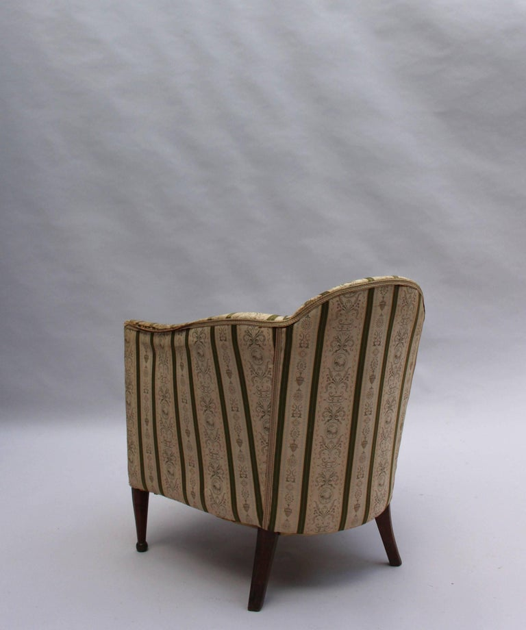 Pair of French Art Deco Armchairs For Sale 3
