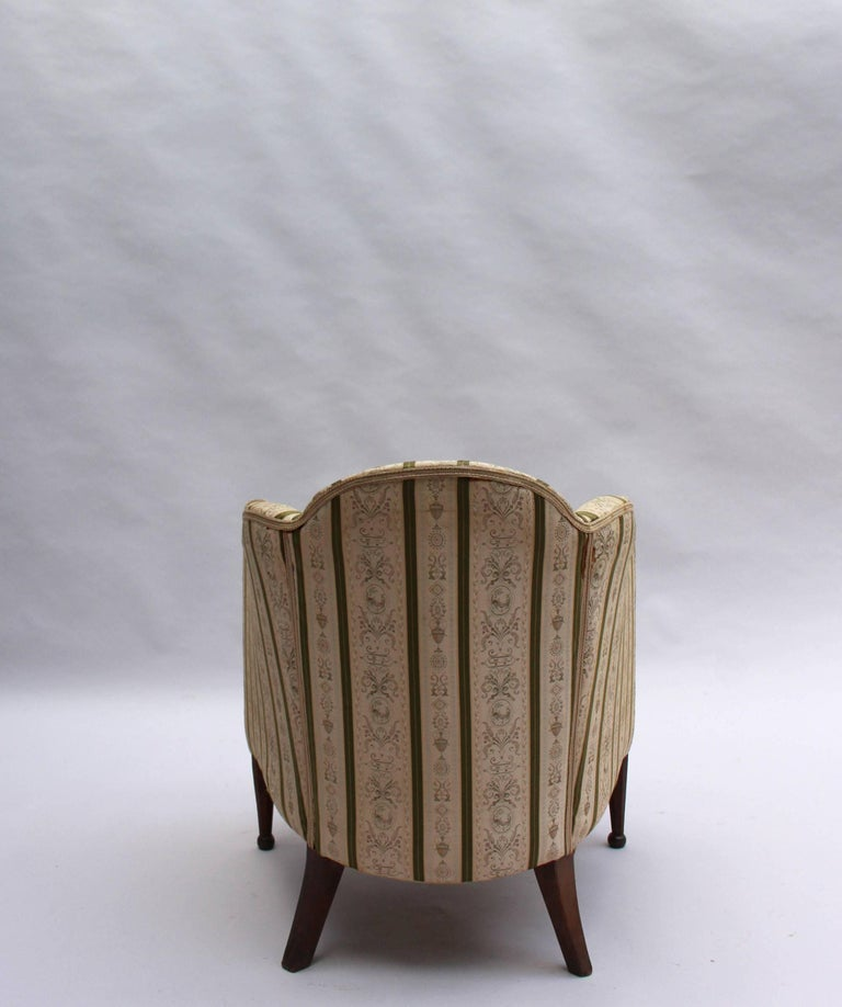 Pair of French Art Deco Armchairs For Sale 4