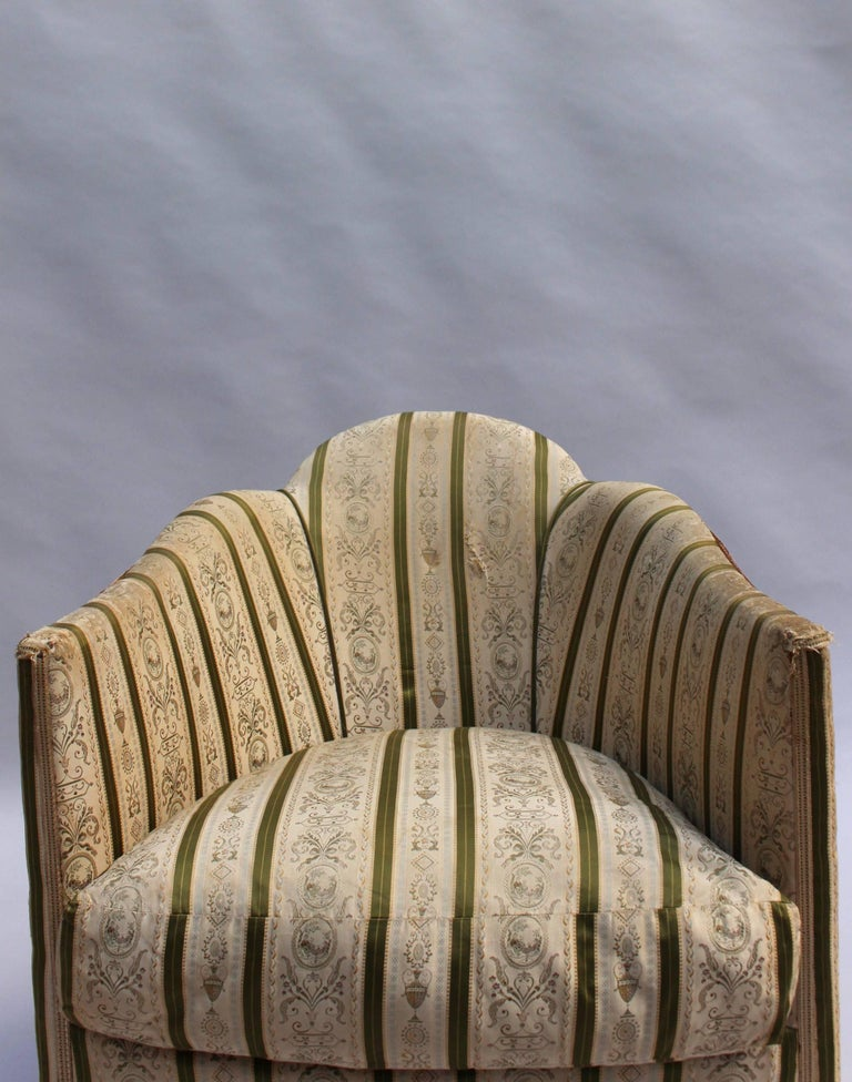 Pair of French Art Deco Armchairs For Sale 5