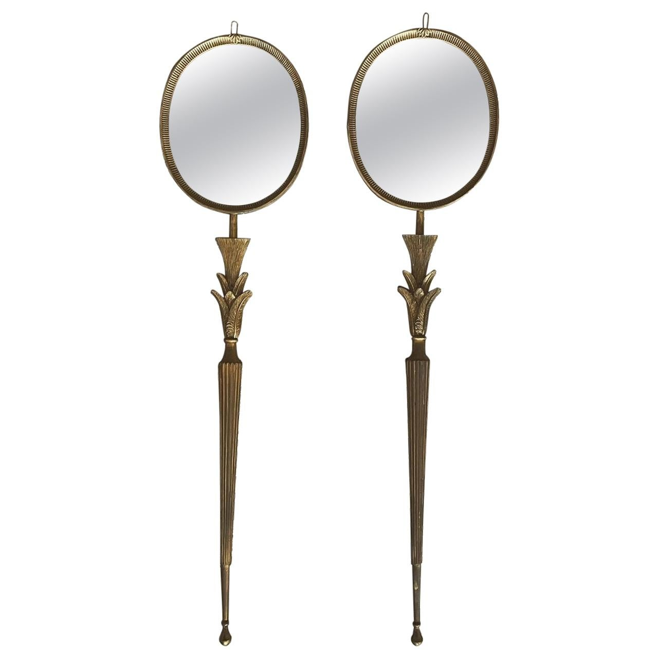 Pair of French Art Deco Mirrors/Sconces
