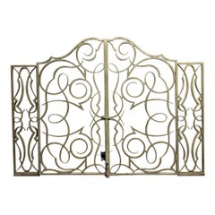 A French Art Deco Wrought Iron Doors, Screens, Gates