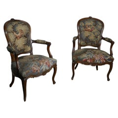 Pair of French Arts & Crafts Salon Library Chairs