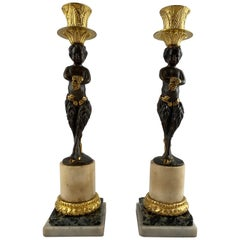 Pair of French Candlesticks, Late 18th Century