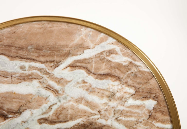 Pair of French Louis XVI Style Gilt Bronze, Mahogany and Marble Side Tables In Good Condition For Sale In New York, NY