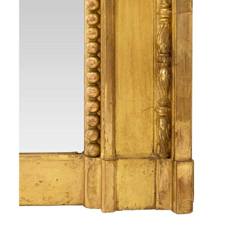 Pair of French Mid-19th Century Louis XVI Style Giltwood Mirrors For Sale 5