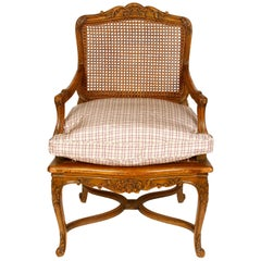 Pair of French Provincial Caned Armchairs