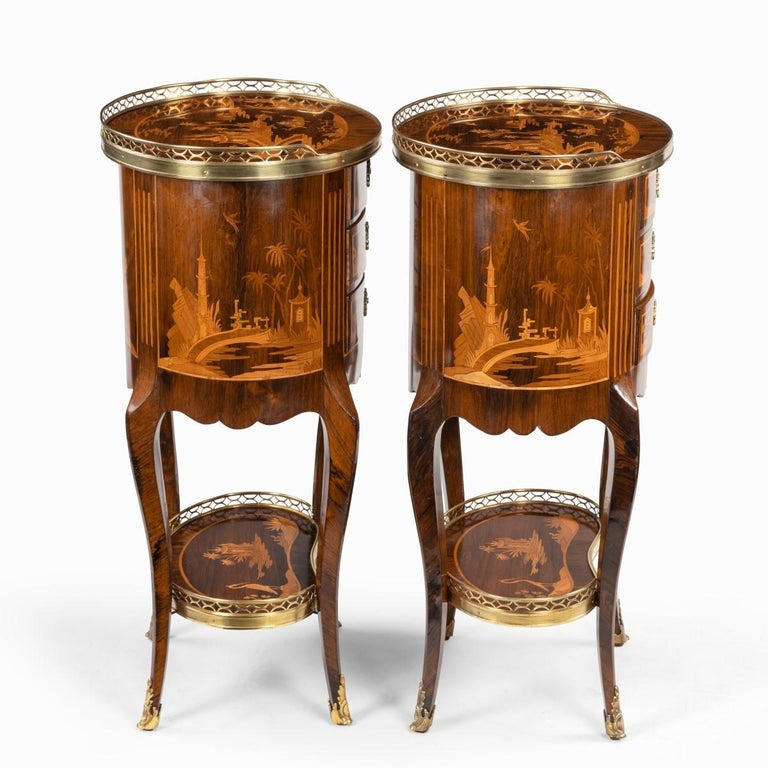 Pair of French Rosewood Occasional Tables For Sale 1