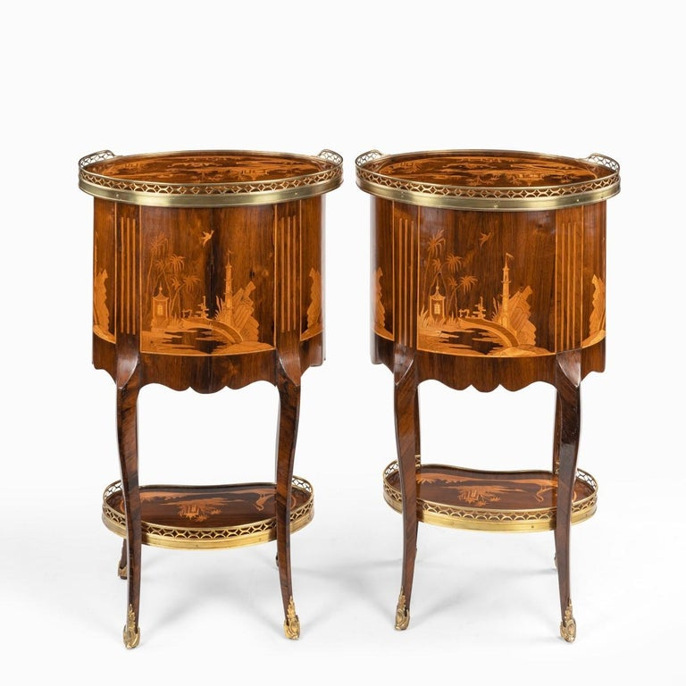 Pair of French Rosewood Occasional Tables For Sale 2