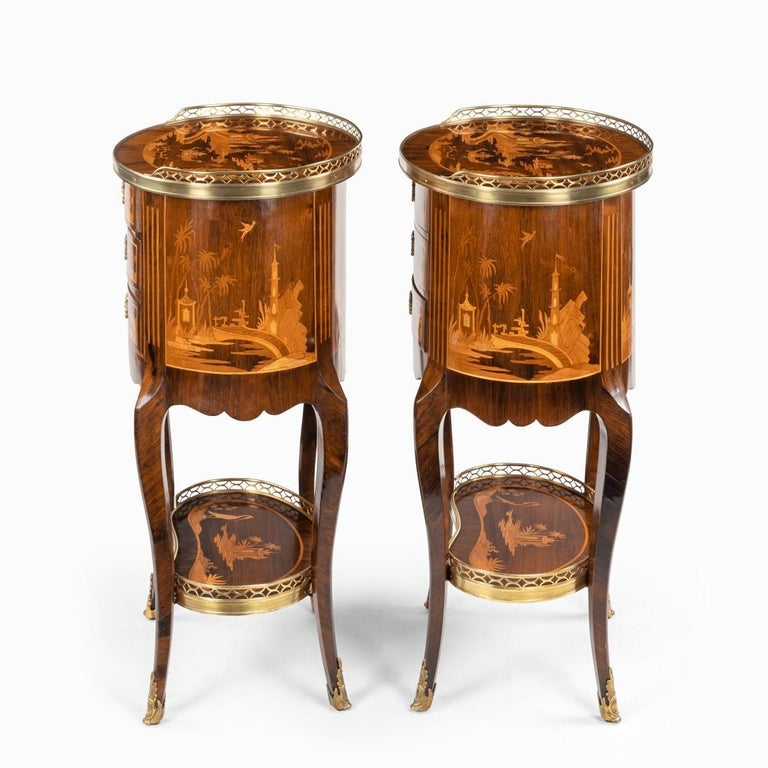 Pair of French Rosewood Occasional Tables For Sale 3