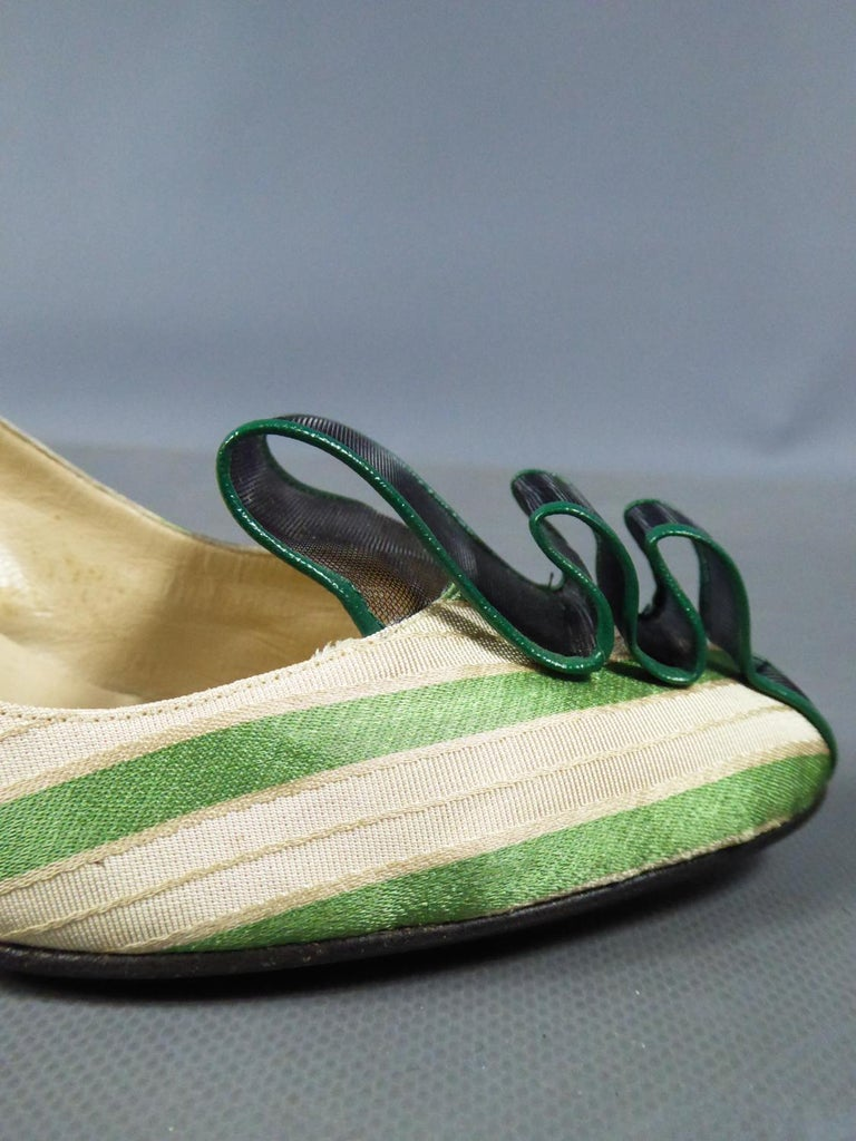 A pair of French Shoes Moi, mes souliers Heels for Fonteneau Circa 1970 For Sale 5