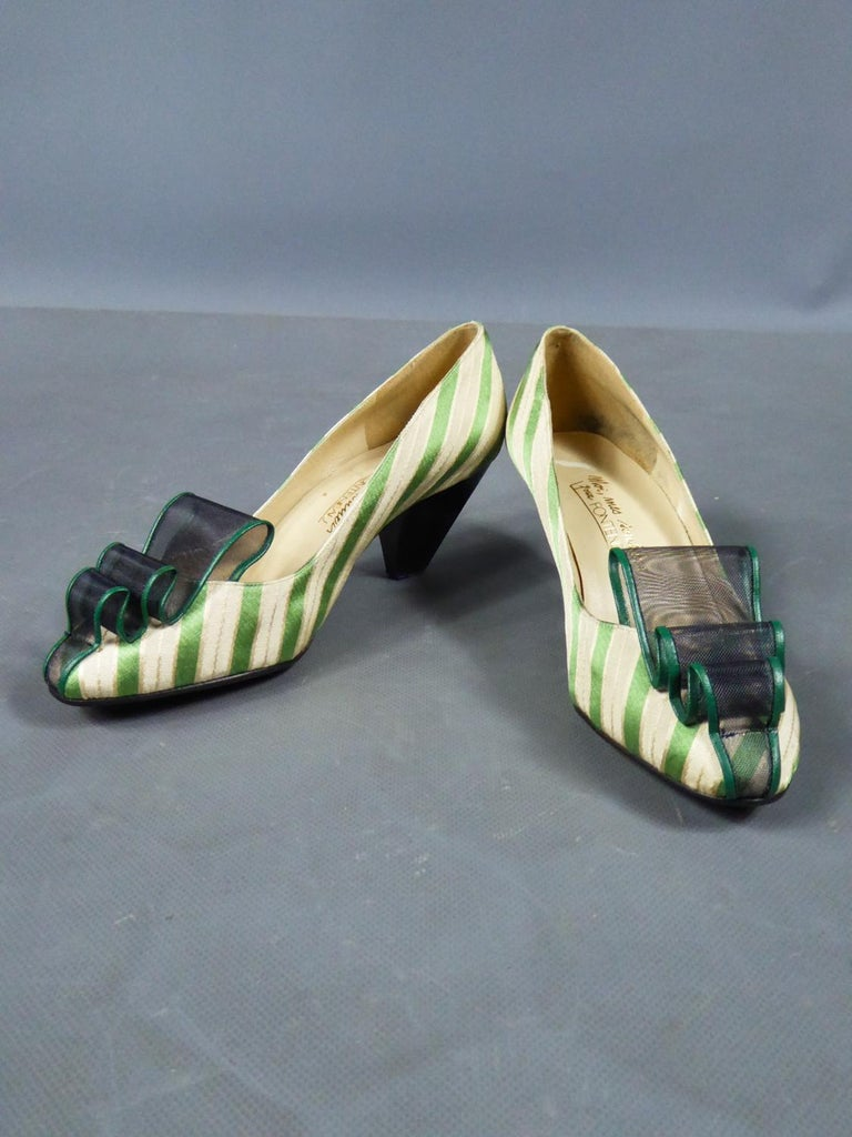 A pair of French Shoes Moi, mes souliers Heels for Fonteneau Circa 1970 For Sale 7