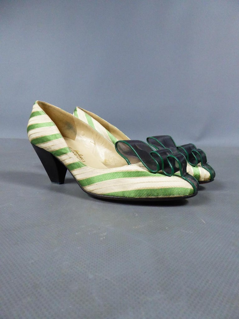 Brown A pair of French Shoes Moi, mes souliers Heels for Fonteneau Circa 1970 For Sale