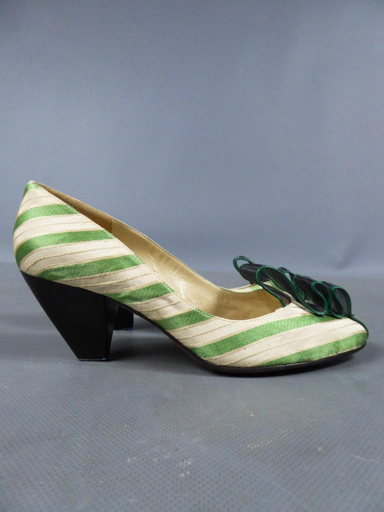 Women's A pair of French Shoes Moi, mes souliers Heels for Fonteneau Circa 1970 For Sale