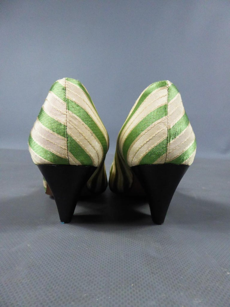 A pair of French Shoes Moi, mes souliers Heels for Fonteneau Circa 1970 For Sale 1
