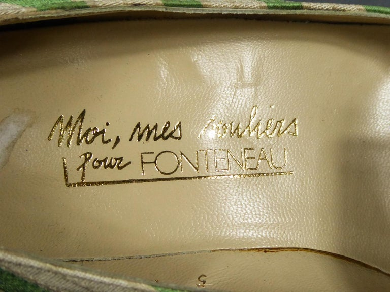 A pair of French Shoes Moi, mes souliers Heels for Fonteneau Circa 1970 For Sale 2