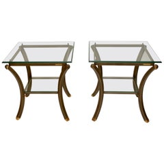 Pair of French Vintage Pierre Vandel Side Tables