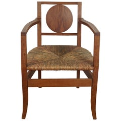 Pair of French Wood Armchairs